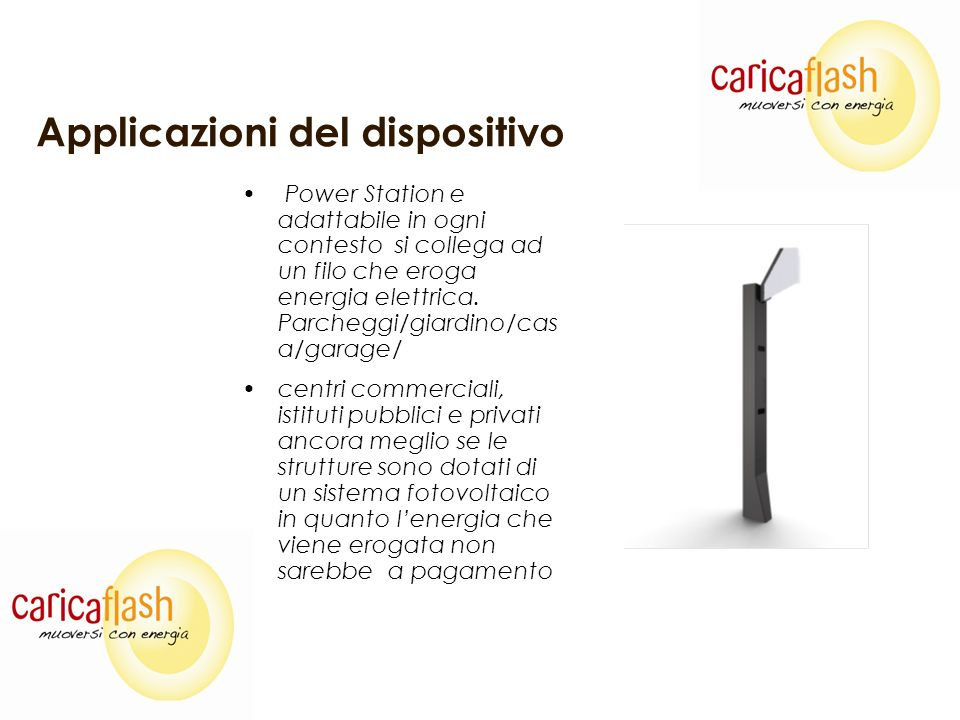 Specifiche del dispositivo La colonnina e cosi strutturata: Design Accattivante & Elegante & Adattabile Alluminio/Software/hardware Elettronica Protetta attivamente e passivamente da atti vandalici