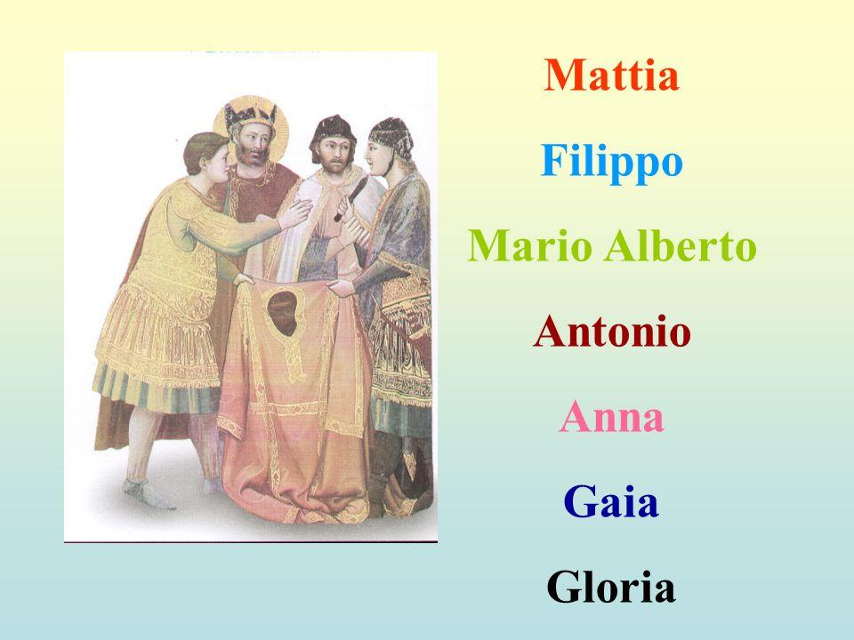 Mattia Filippo Mario Alberto Antonio Anna Gaia Gloria