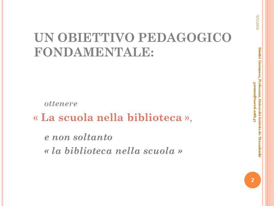 TRASFORMAZIONE DELLO SPAZIO IN AREE DI ATTIVITÀ 4 ª SCUOLA PRIMARIA DI MENEMENI (PERIFERIA DI SALONICCO) -2009 TRASFORMAZIONE DI UN PALCOSCENICO TEATRALE IN BIBLIOTECA SCOLASTICA – AULA DI STUDIO.