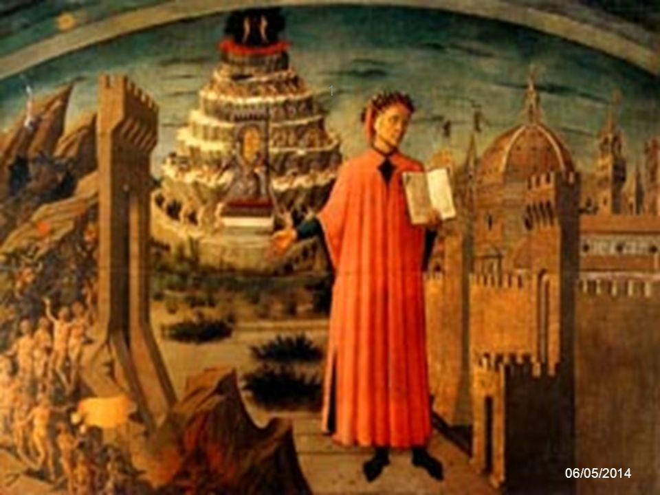 Le guide di Dante Dante viene accompagnato nel suo viaggio da due guide, in successione: - il poeta latino Virgilio, simbolo della ragione umana - la donna che amava, Beatrice, simbolo della fede divina 06/05/2014 21