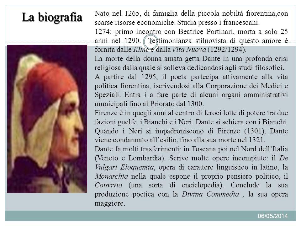 La biografia Nato nel 1265, di famiglia della piccola nobiltà fiorentina,con scarse risorse economiche.