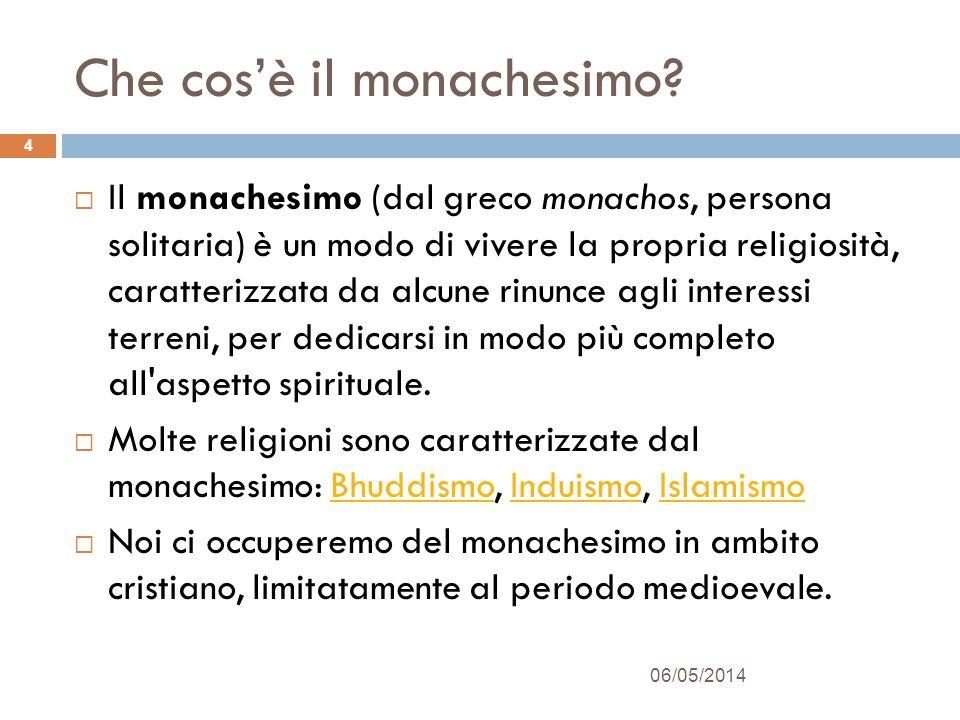 Due tipi di monachesimo Anacoreta è detto un religioso che abbandona la società per un condurre una vita solitaria dedicandosi alla preghiera.