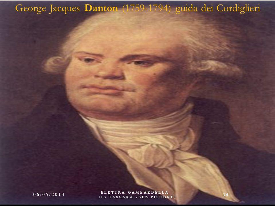 (1758-1794) guida dei Giacobini 06/05/2014 ELETTRA GAMBARDELLA - IIS TASSARA (SEZ.PISOGNE) 23
