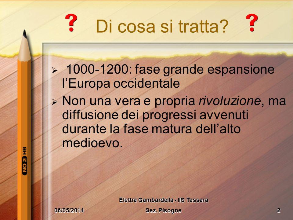 LA RINASCITA DELLOCCIDENTE 06/05/20141 Elettra Gambardella - IIS Tassara Sez. Pisogne