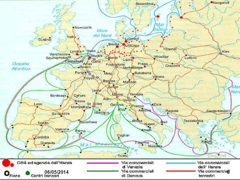 Collegamento commerciale con Europa attraverso le fiere luoghi dove i signori locali garantivano la sicurezza per i commerci Inizialmente nelle Fiandr