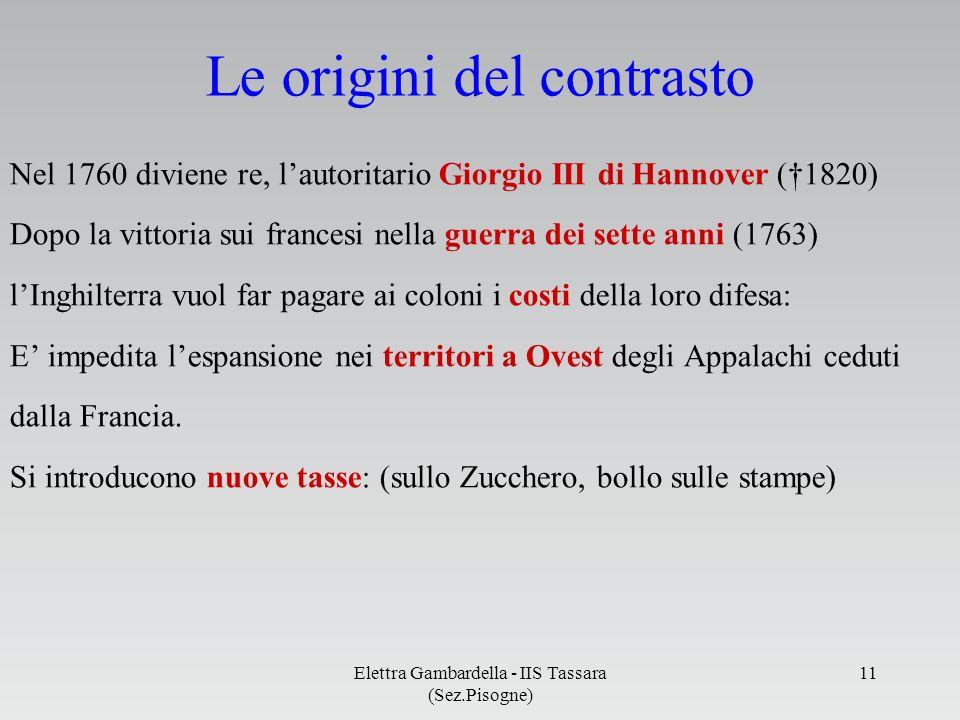 Le origini del contrasto Nel 1760 diviene re, lautoritario Giorgio III di Hannover (1820) Dopo la vittoria sui francesi nella guerra dei sette anni (1