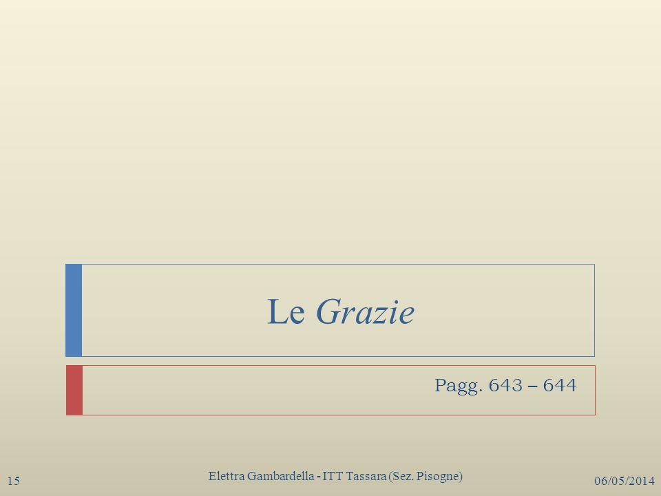 Le Grazie Elettra Gambardella - ITT Tassara (Sez. Pisogne) 06/05/201415 Pagg. 643 – 644