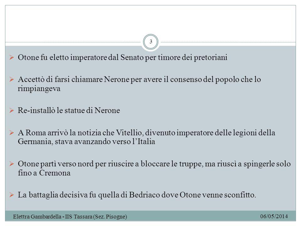 06/05/2014 Elettra Gambardella - IIS Tassara (Sez.