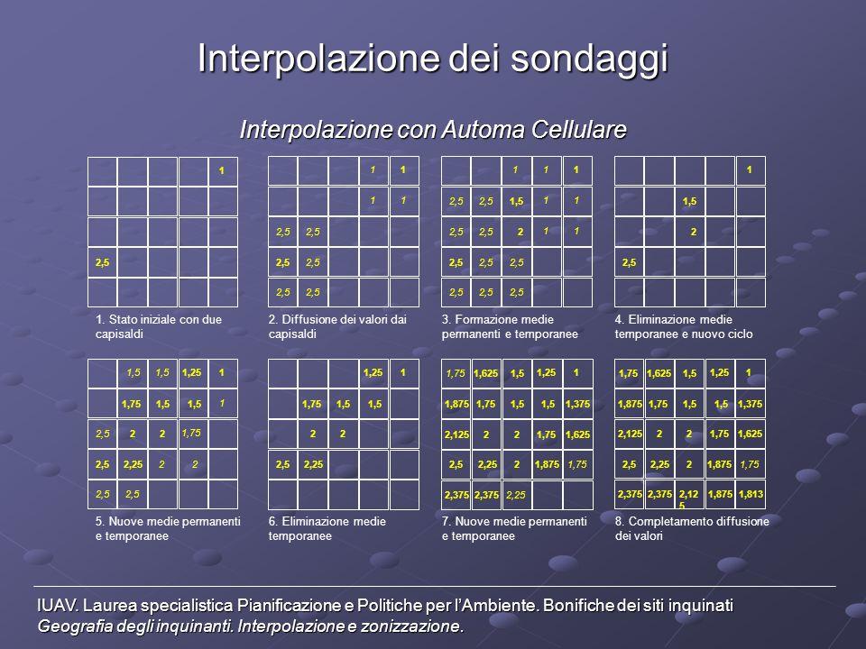 Interpolazione con media pesata IUAV.
