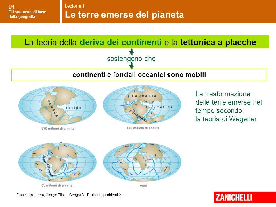 U1 Gli strumenti di base della geografia Francesco Iarrera, Giorgio Pilotti - Geografia Territori e problemi 2 La trasformazione delle terre emerse ne