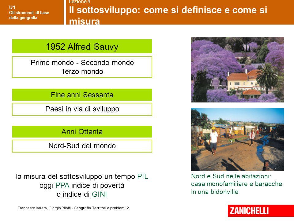 U1 Gli strumenti di base della geografia Francesco Iarrera, Giorgio Pilotti - Geografia Territori e problemi 2 Nord e Sud nelle abitazioni: casa monof