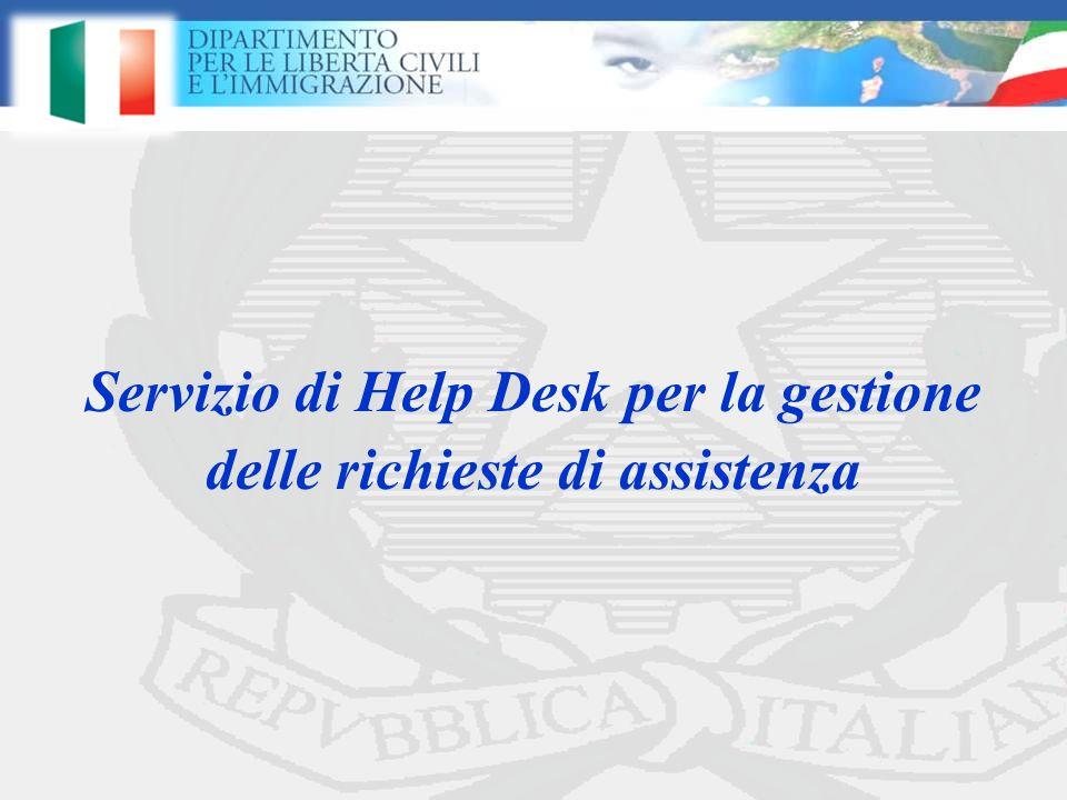 Servizio di Help Desk per la gestione delle richieste di assistenza