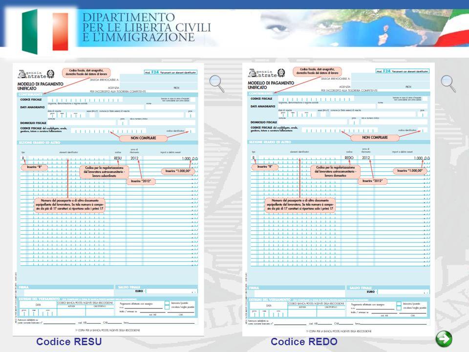 Codice RESUCodice REDO