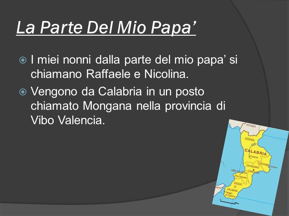 La Parte Del Mio Papa I miei nonni dalla parte del mio papa si chiamano Raffaele e Nicolina.