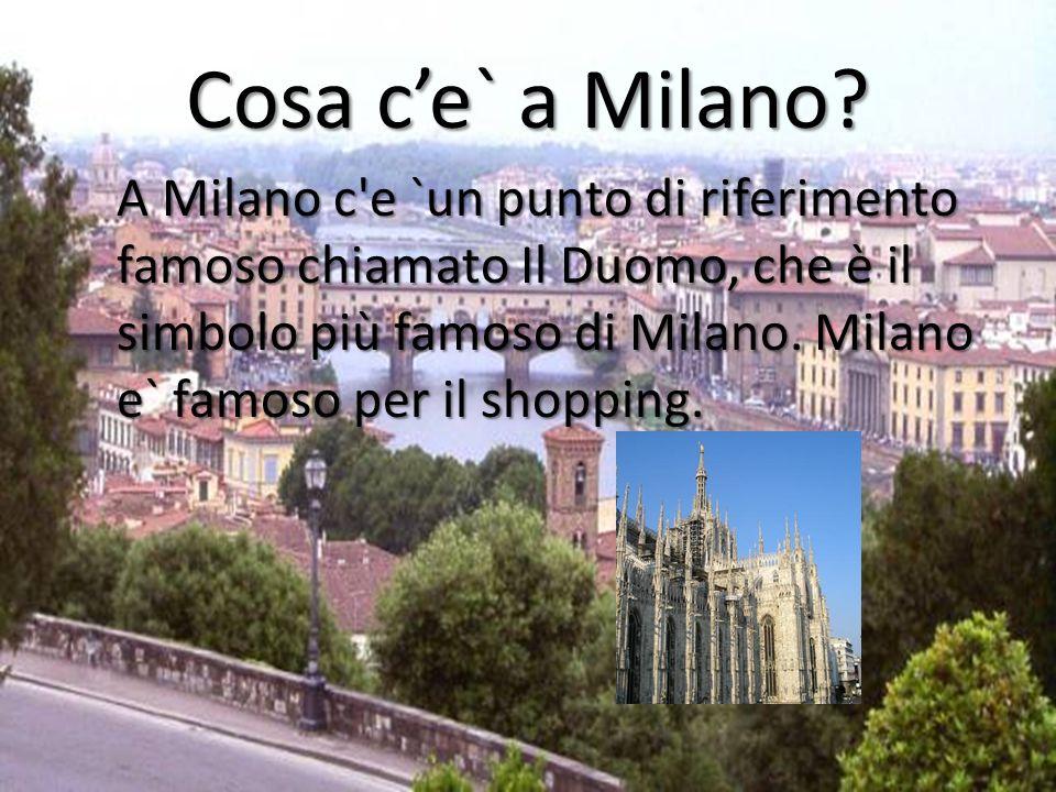Andiamo a molti diversi ristoranti a Milano Ci sono molti posti per mangiare a Milano.