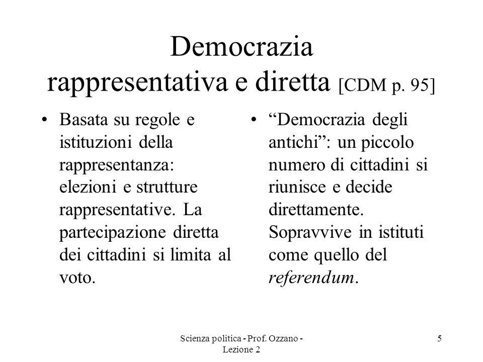 Scienza politica - Prof.Ozzano - Lezione 2 6 Prima classificazione di Lijphart [CDM pp.