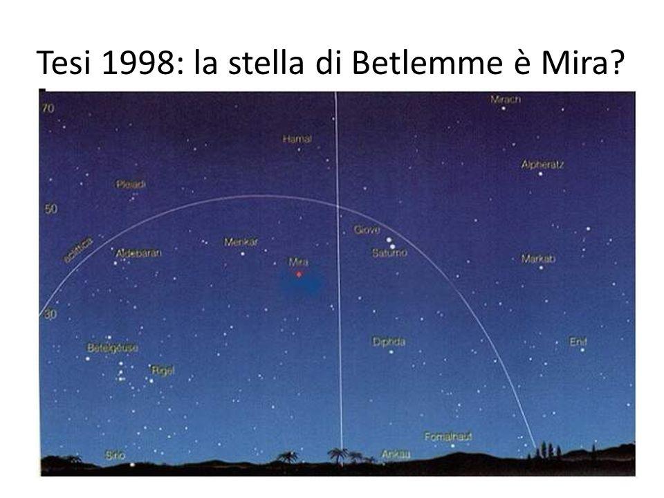 Tesi 1998: la stella di Betlemme è Mira?