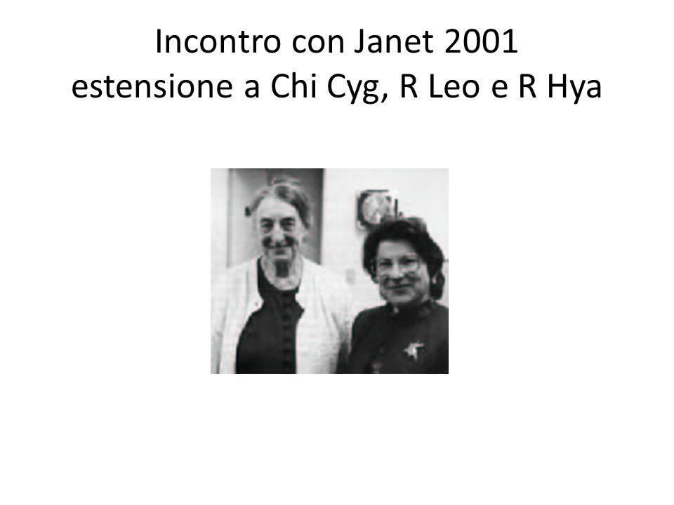 Incontro con Janet 2001 estensione a Chi Cyg, R Leo e R Hya