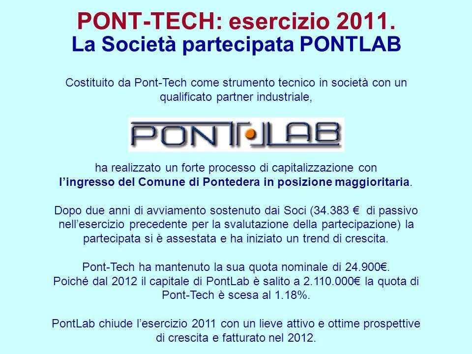 Costituito da Pont-Tech come strumento tecnico in società con un qualificato partner industriale, ha realizzato un forte processo di capitalizzazione con lingresso del Comune di Pontedera in posizione maggioritaria.