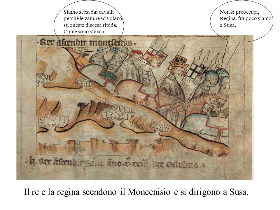 Il re Arrigo accompagnato dalla moglie Margherita e dal fratello Baldovino, con un piccolo esercito, passa le Alpi:è il primo passo del suo viaggio in