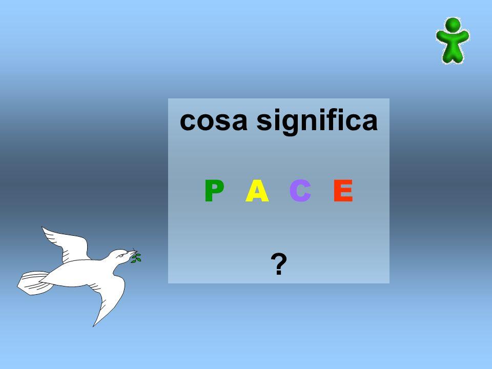 cosa significa P A C E ?