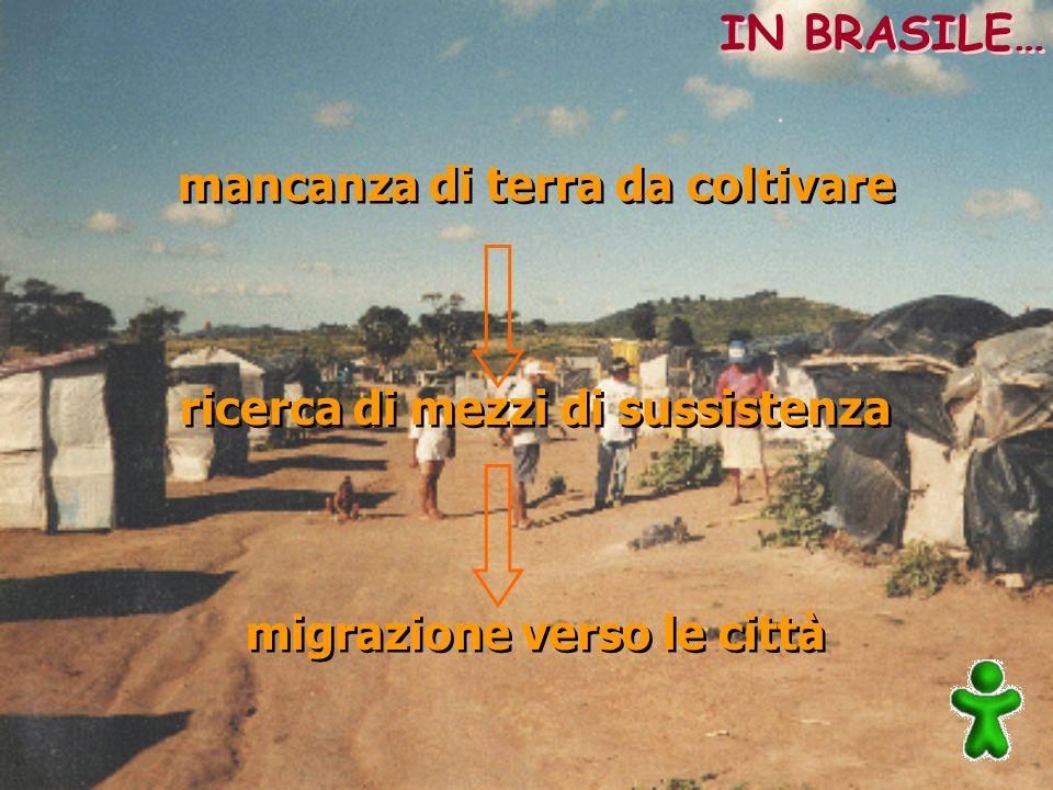mancanza di terra da coltivare ricerca di mezzi di sussistenza migrazione verso le città mancanza di terra da coltivare ricerca di mezzi di sussistenz