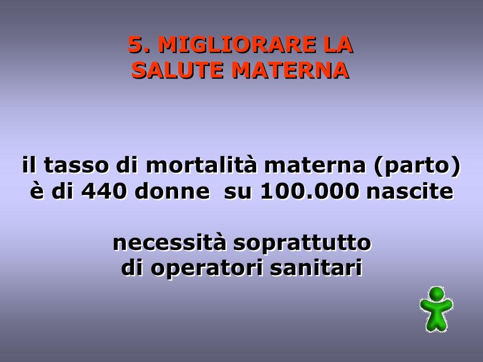 5. MIGLIORARE LA SALUTE MATERNA 5.