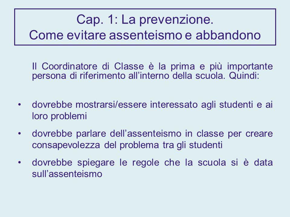 Cap. 1: La prevenzione.