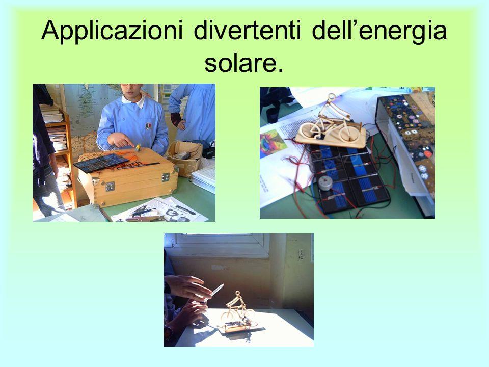 Applicazioni divertenti dellenergia solare.