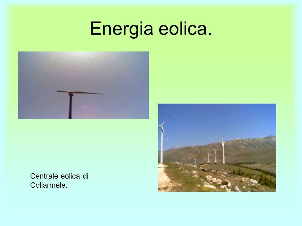 Energia eolica. Centrale eolica di Collarmele.