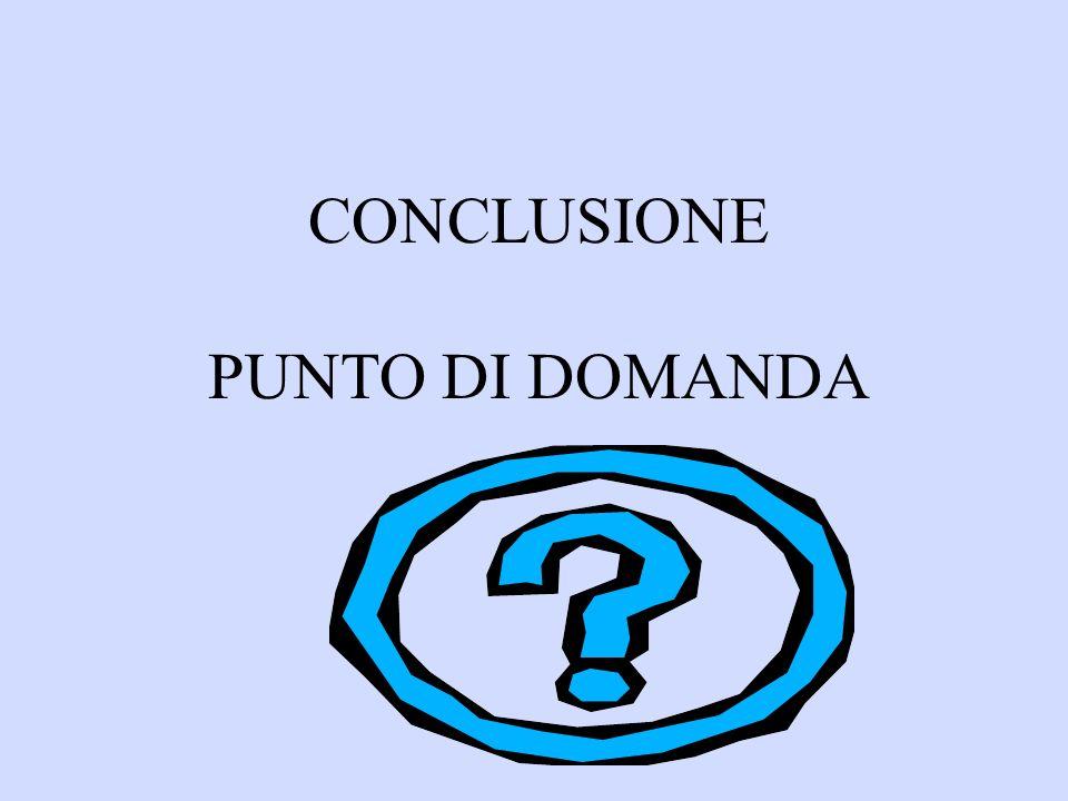 CONCLUSIONE PUNTO DI DOMANDA