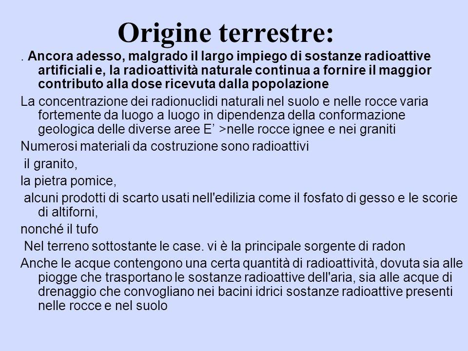 Origine terrestre:.