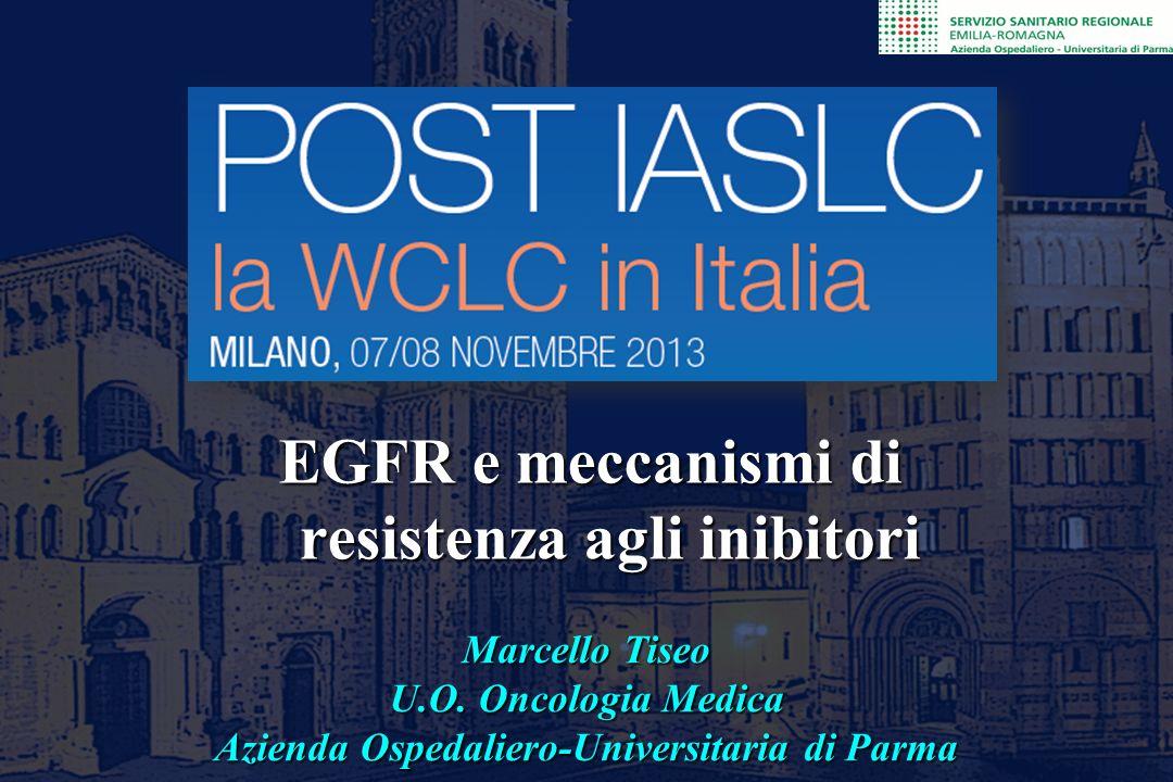 Marcello Tiseo U.O. Oncologia Medica Azienda Ospedaliero-Universitaria di Parma EGFR e meccanismi di resistenza agli inibitori