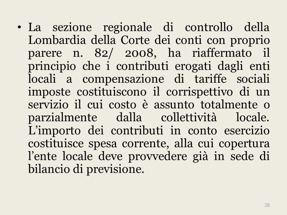 La sezione regionale di controllo della Lombardia della Corte dei conti con proprio parere n.