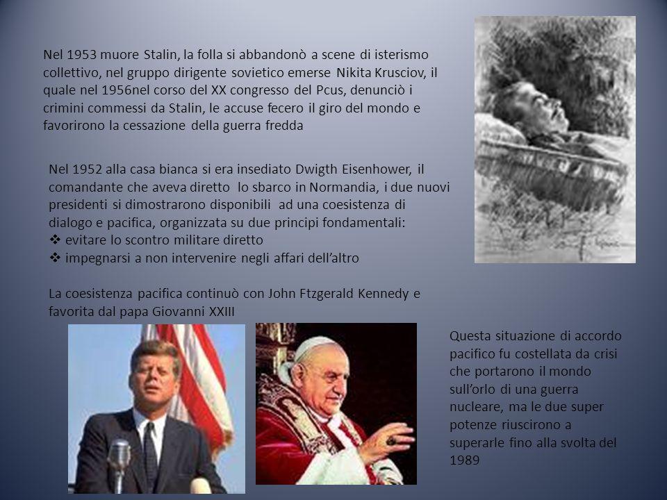La più grande crisi avvenne nel 1962 con la crisi di Cuba che si trovava a pochi Km dalle coste degli Stati Uniti.