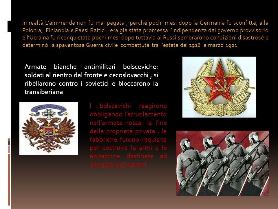 In realtà Lammenda non fu mai pagata, perché pochi mesi dopo la Germania fu sconfitta, alla Polonia, Finlandia e Paesi Baltici era già stata promessa