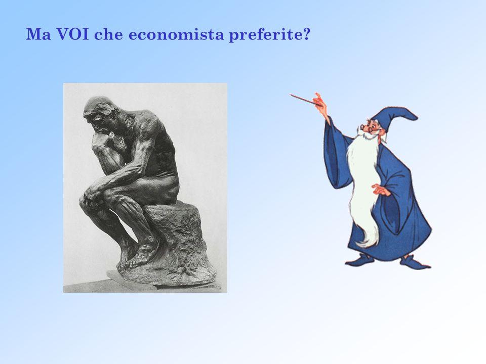 Ma VOI che economista preferite?