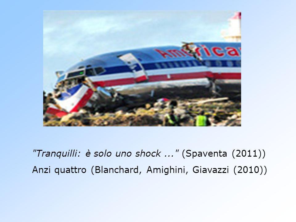 Tranquilli: è solo uno shock... (Spaventa (2011)) Anzi quattro (Blanchard, Amighini, Giavazzi (2010))