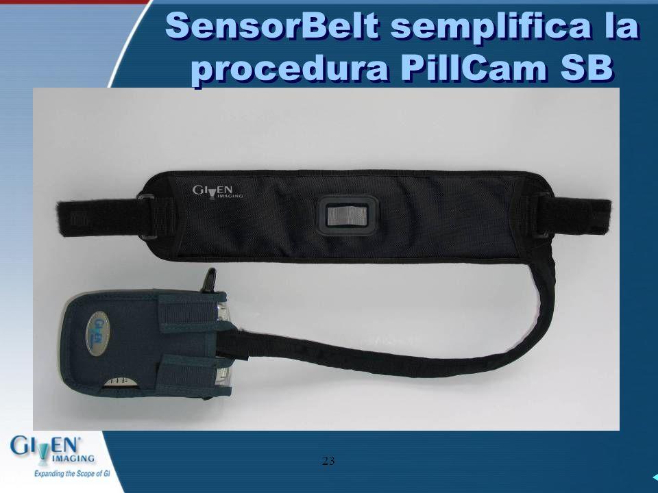 23 SensorBelt semplifica la procedura PillCam SB