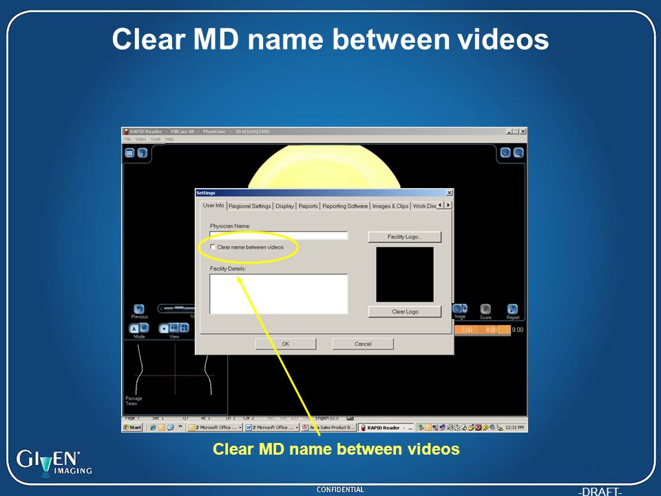 -DRAFT- Clear MD name between videos
