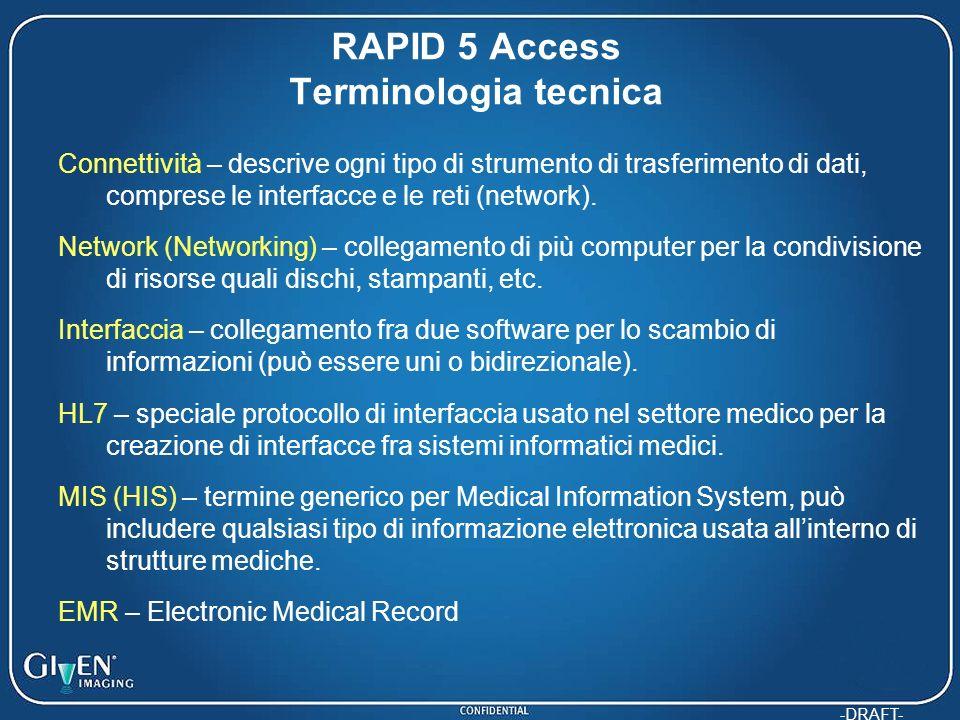 -DRAFT- Connettività – descrive ogni tipo di strumento di trasferimento di dati, comprese le interfacce e le reti (network). Network (Networking) – co