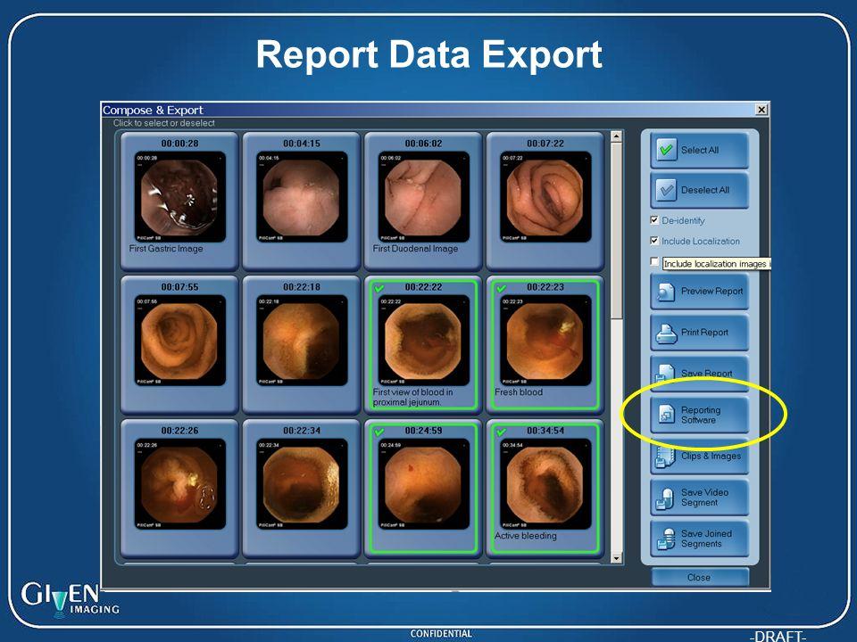 -DRAFT- Report Data Export