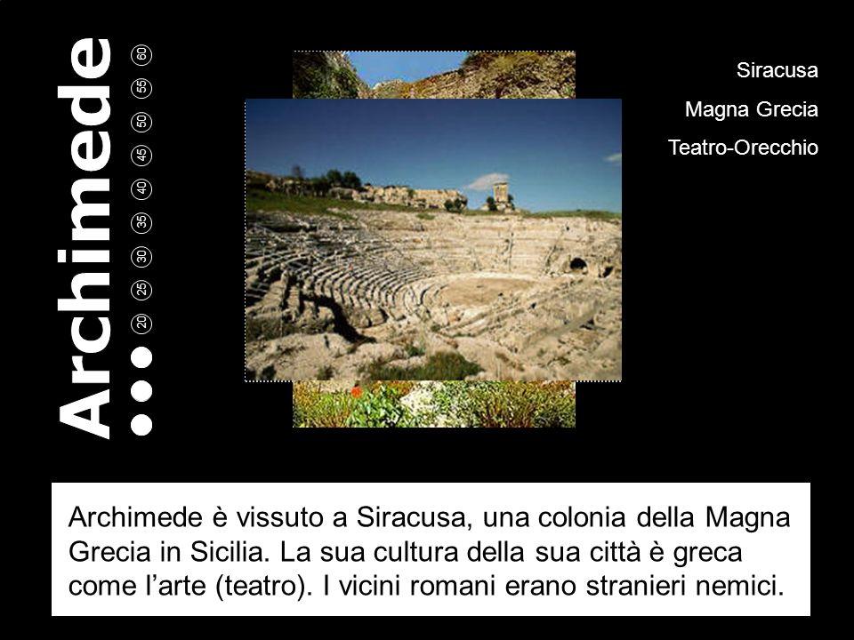 5 10 15 20 25 30 35 40 45 50 55 60 Archimede A cura di: Aldo Rossi Bianca Neri Scuola: ITIS Volta Como Classe: 2°B