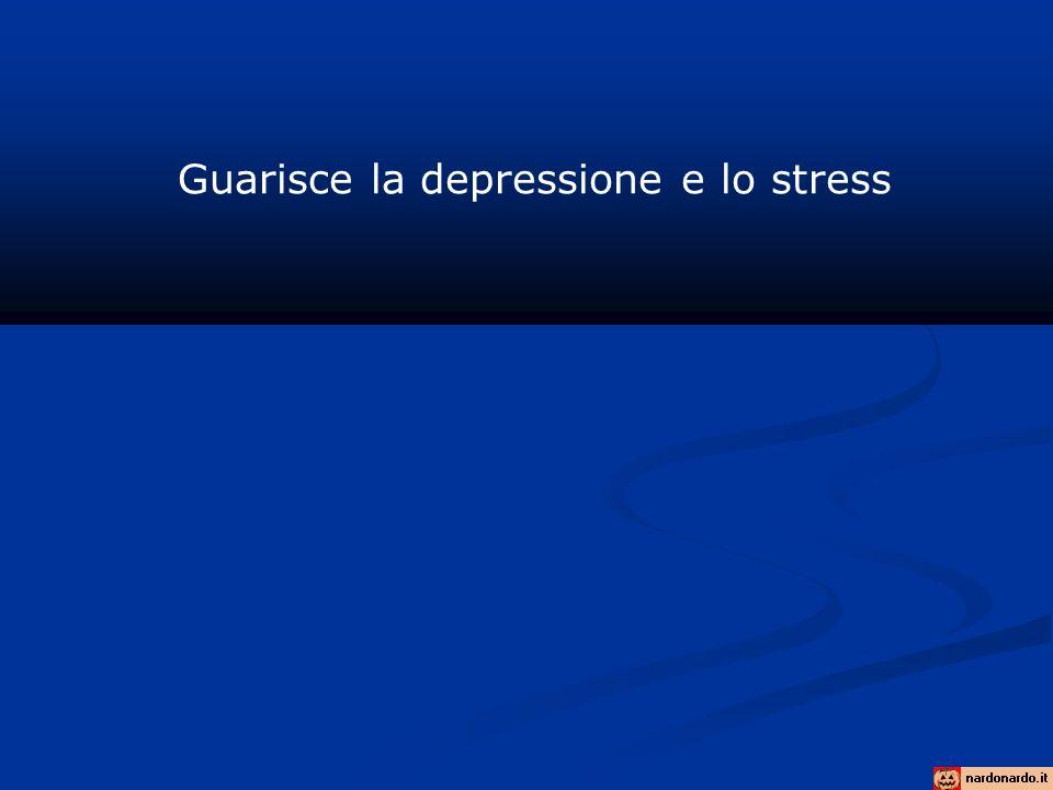 Guarisce la depressione e lo stress
