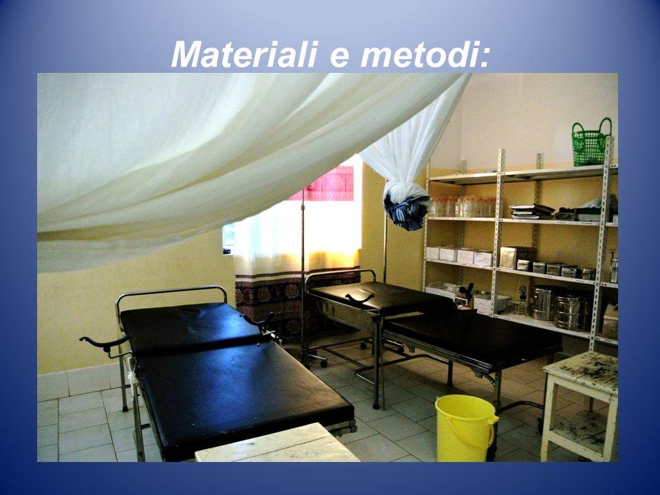 Materiali e metodi: LONG Medici con lAfrica Cuamm ha iniziato nel 2012 il programma quinquennale Prima le mamme e i bambini, che è attivo anche nellOs