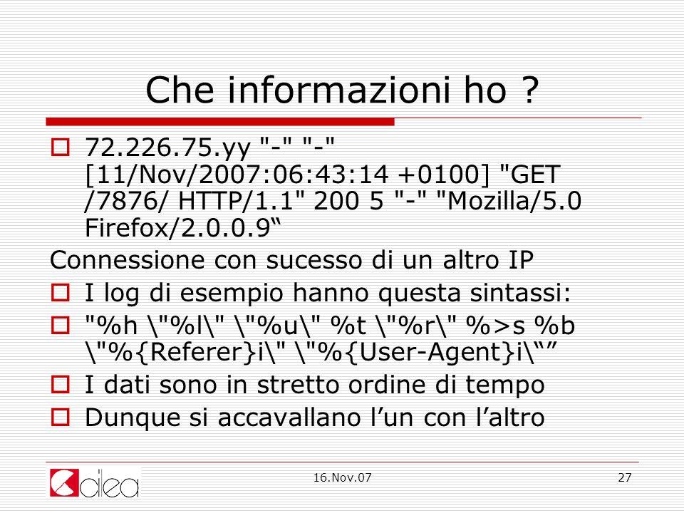 16.Nov.0727 Che informazioni ho .