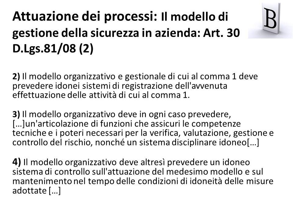 2) Il modello organizzativo e gestionale di cui al comma 1 deve prevedere idonei sistemi di registrazione dell'avvenuta effettuazione delle attività d