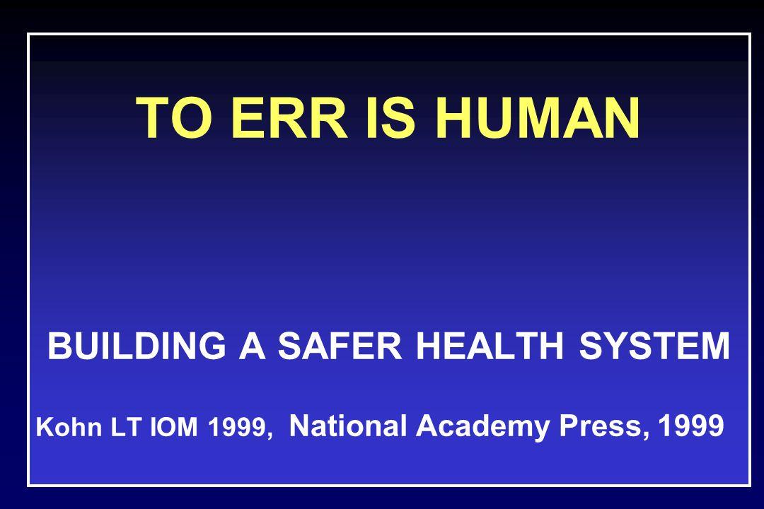 Per fattore umano si definisce lo studio dellinterfaccia fra gli uomini, gli strumenti che essi utilizzano e lambiente in cui vivono e lavorano Kohn LT, IOM 1999
