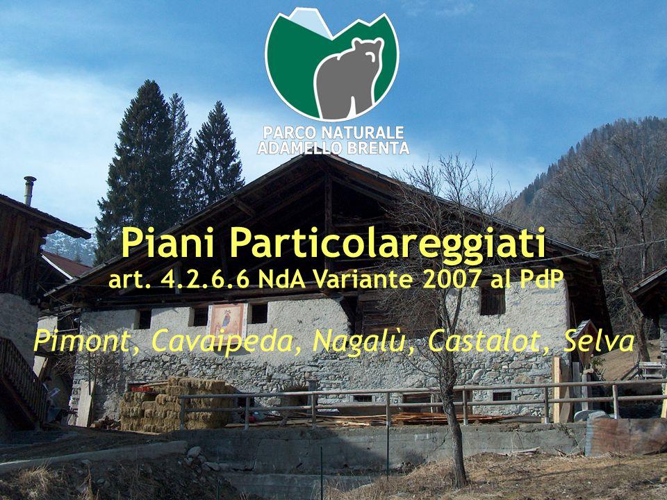 Piani Particolareggiati art. 4.2.6.6 NdA Variante 2007 al PdP Pimont, Cavaipeda, Nagalù, Castalot, Selva