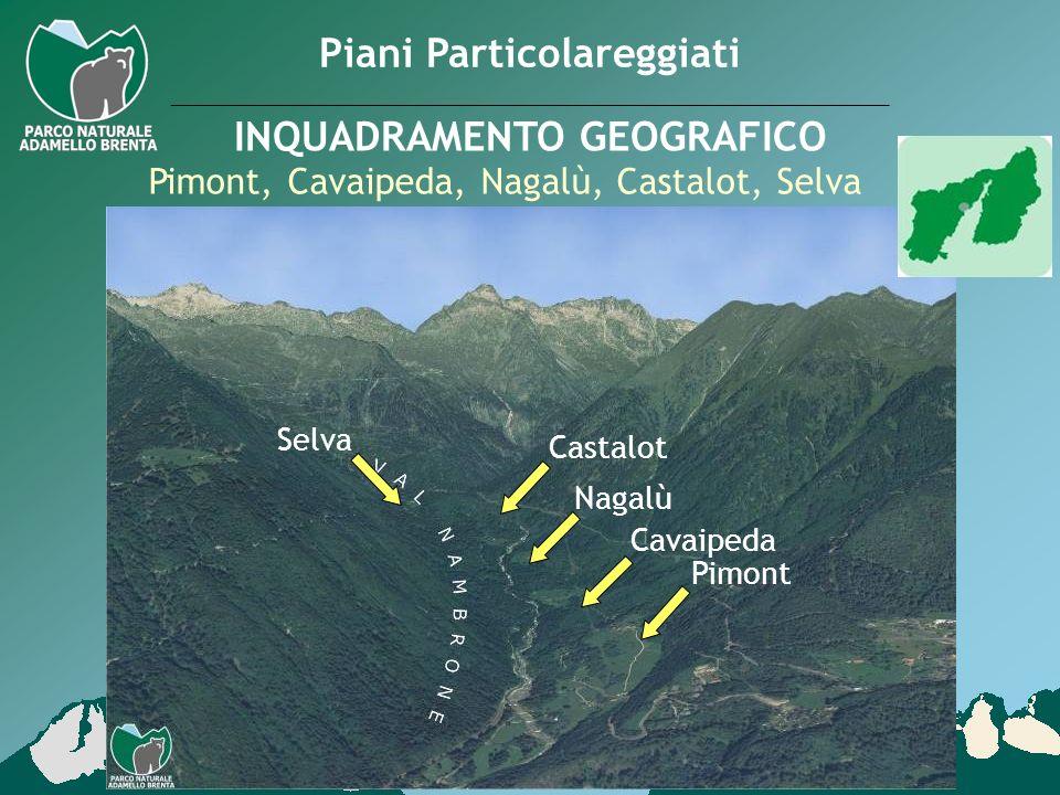 Pimont, Cavaipeda, Nagalù, Castalot, Selva Piani Particolareggiati INQUADRAMENTO GEOGRAFICO Pimont Cavaipeda Nagalù Castalot Selva